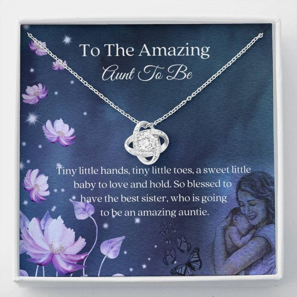 Aunt Necklace, Auntie To Be Gift - Aunt Reveal Necklace - Future Aunt Necklace - Promoted To Auntie - Best Aunt Ever