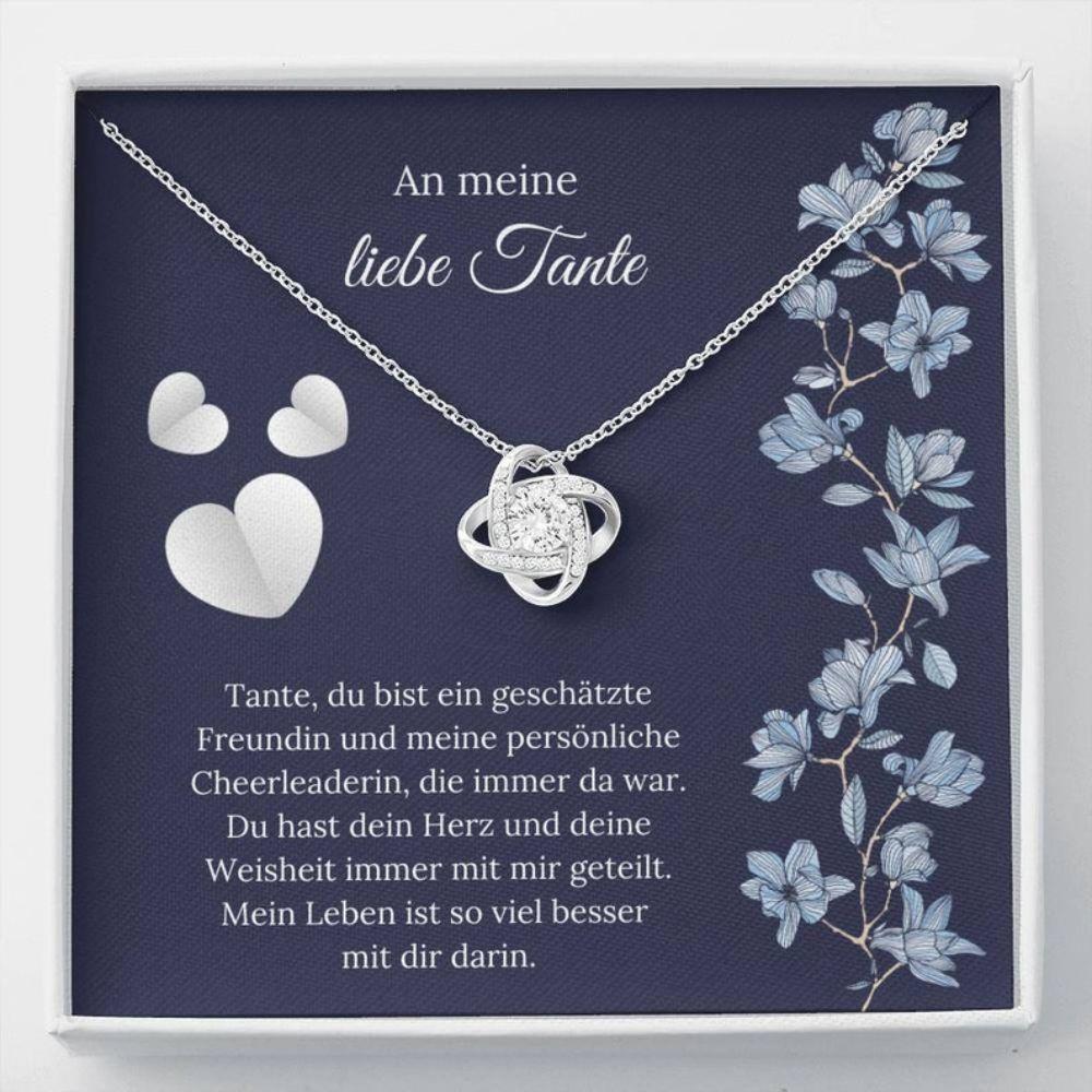 Aunt Necklace, BESTE Tante GESCHENK - German Aunt Love - Tante Christmas Gift - Sweet Aunt Message - Tante Necklace