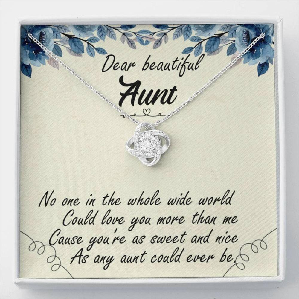 Aunt Necklace, Christmas Necklace For Aunt, Aunt And Niece Aunt Gift From Niece Necklace With Message Card Gift For Her