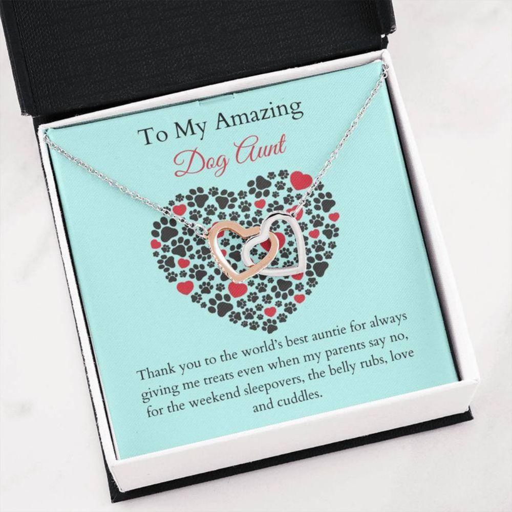 Aunt Necklace, Dog Aunt Necklace - K9 Auntie Gift - Best Dog Auntie - Rescue Dog Aunt - Gift From Dog - Dog Lover Gift