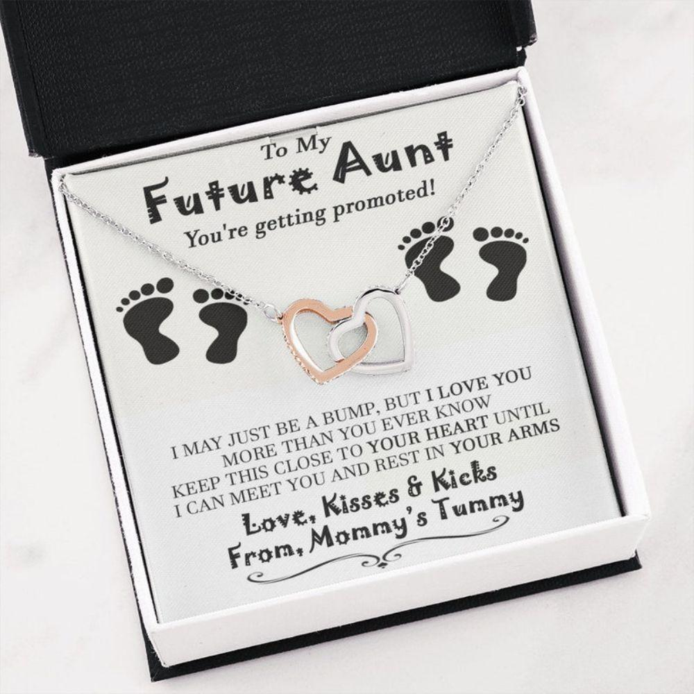 Aunt Necklace, Future Aunt Necklace, New Aunt Gift, Soon To Be Aunt, Reveal To Aunt To Be Gift, Announcement Promoted To Aunt Gift