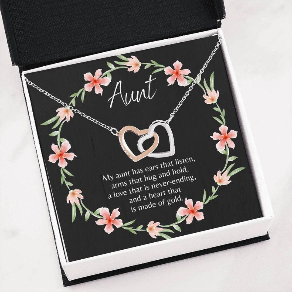 Aunt Necklace, Heartfelt Auntie Gift - Necklace For Aunt - Auntie Christmas - Boxed Card Necklace - Best Aunt