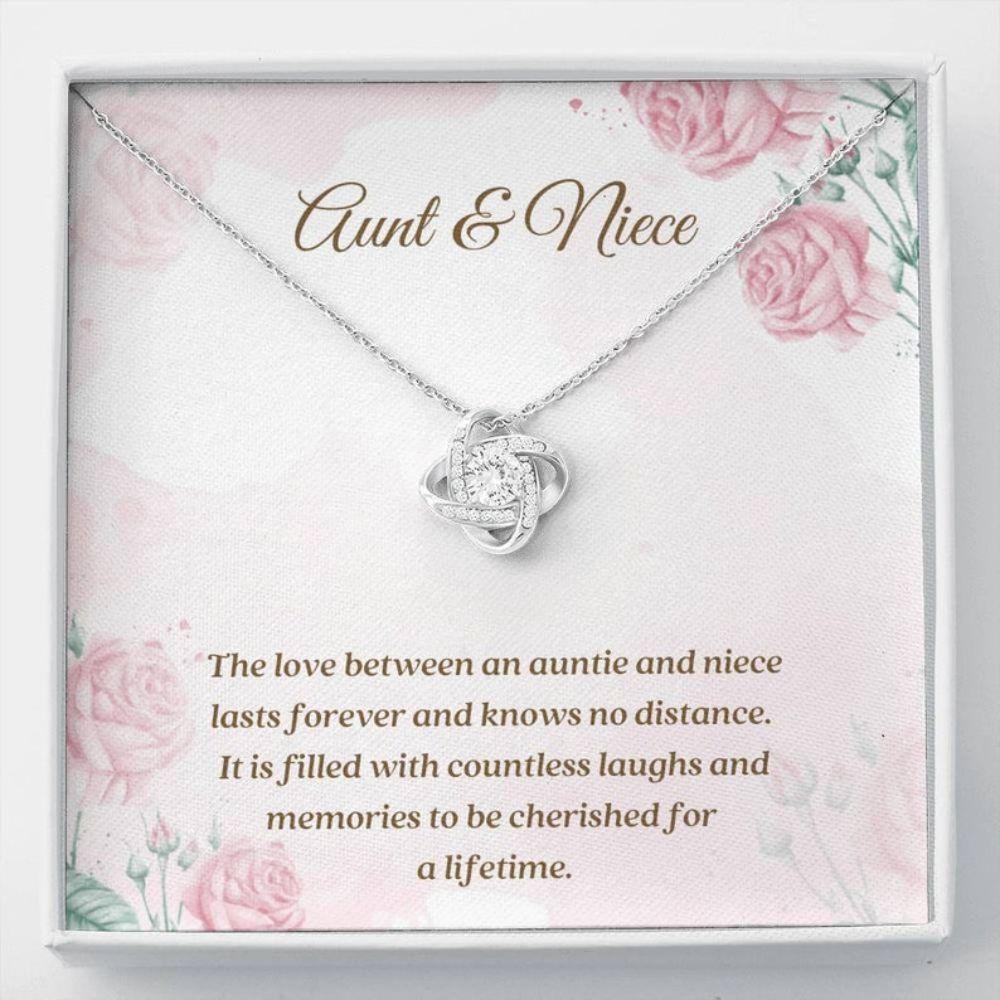 Aunt Necklace, Niece Necklace, Aunt Niece Necklace Gift - Best Aunt Gift - Niece Necklace - Love Knot Necklace