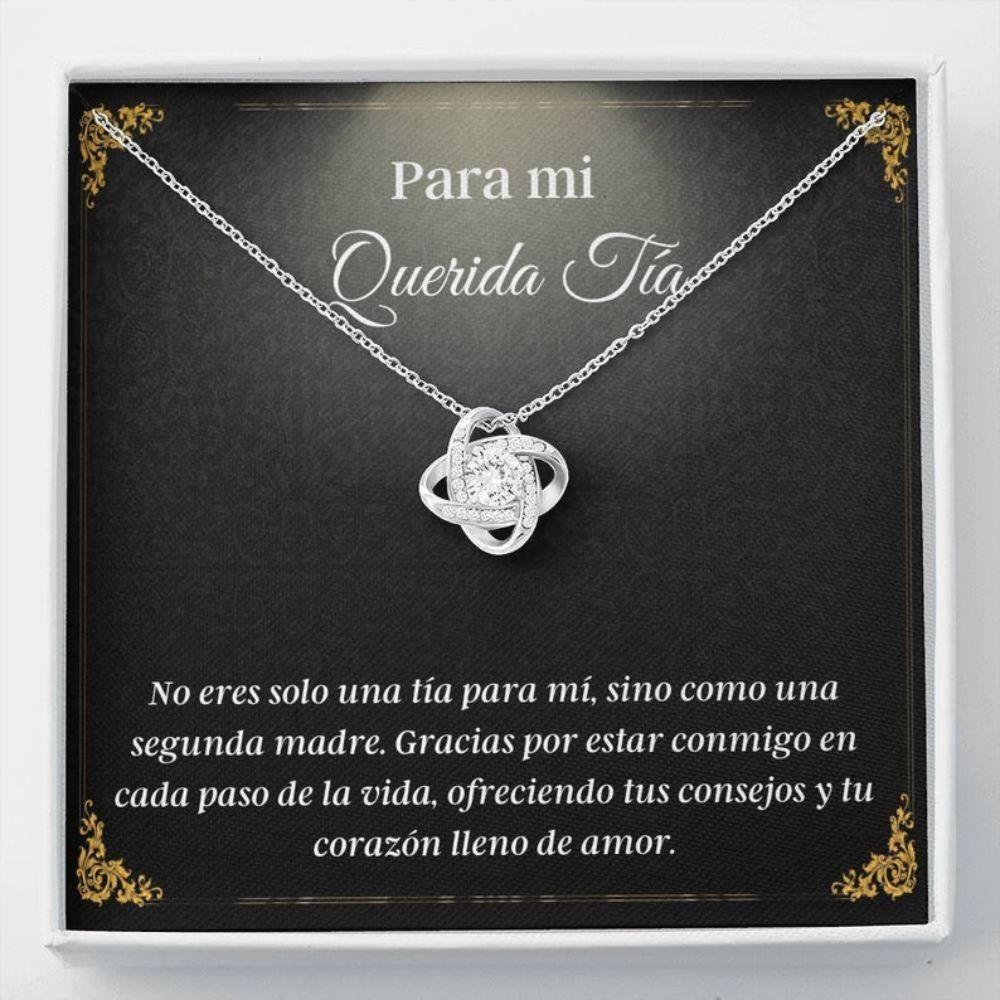 Aunt Necklace, Spanish Aunt Necklace - Mejor Tia Gift - Regalos En Espanol - Love To Tia - Latina Aunt Gift