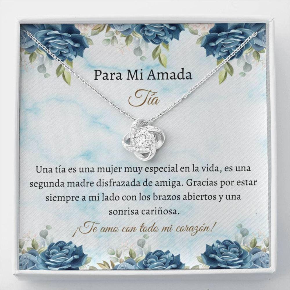 Aunt Necklace, Spanish Aunt Necklace - Tia Collar Regalo - Latina Auntie Gift - Mejor Tia