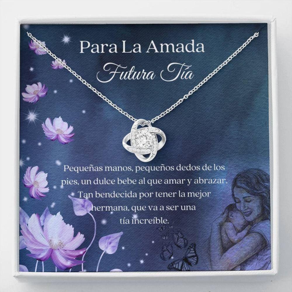Aunt Necklace, Spanish Future Aunt Gift - Futura Tia Collar Carta - Latina Promoted To Auntie - Spanish Aunt To Be Necklace - Nueva Tia Regalo