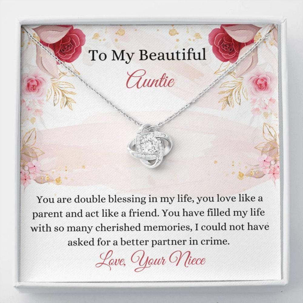 Aunt Necklace, Sweet Auntie Gift - Auntie Necklace - Sentimental Gift - Auntie Keepsake - Aunt Christmas Gift