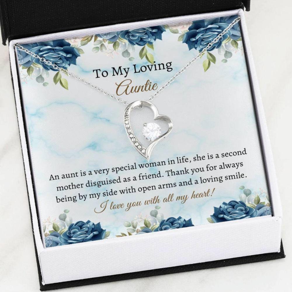 Aunt Necklace, Sweet Auntie Necklace Gift - Auntie Necklace - Best Aunt Keepsake - Auntie Christmas Gift
