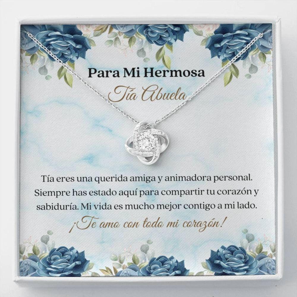 Aunt Necklace, Tia Abuela Regalo - Spanish Great Auntie Gift - Tia Abuela Collar Carta - Tia Abuela Keepsake - Latina Great Aunt Necklace
