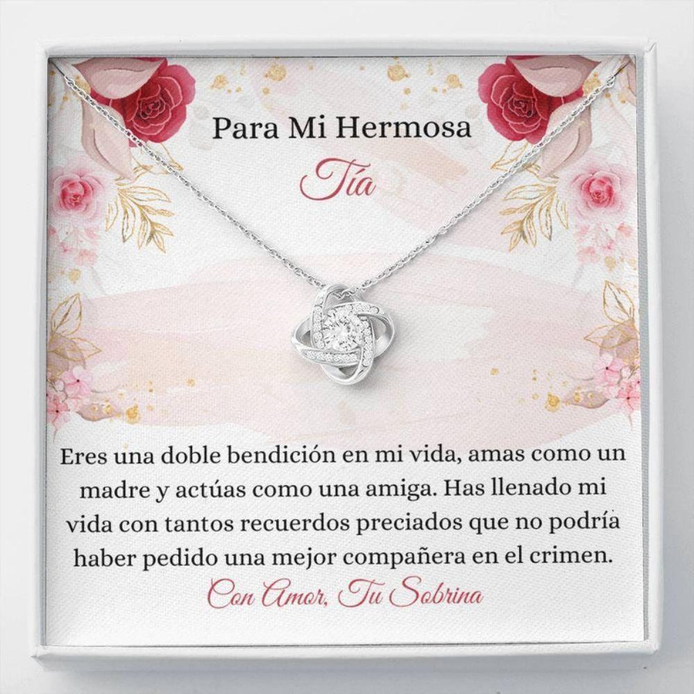 Aunt Necklace, Tia Collar Regalo - Tia Keepsake - Spanish Aunt Necklace - Proud Latina Auntie - Spanish Aunt Wedding Necklace - Tia Navidad