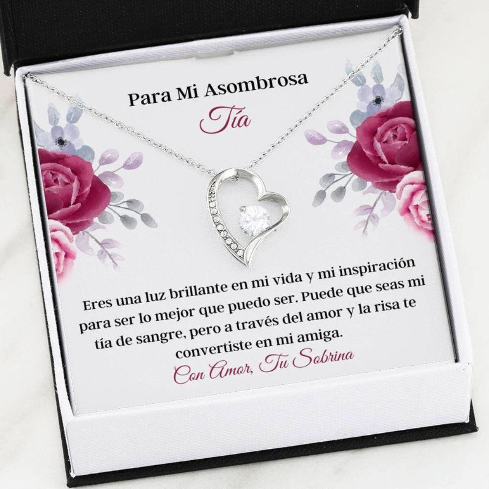 Aunt Necklace, Tia Necklace - Latina Aunt Gift - Spanish Aunt Necklace - Regalo De Sobrina - Amor Para Tia