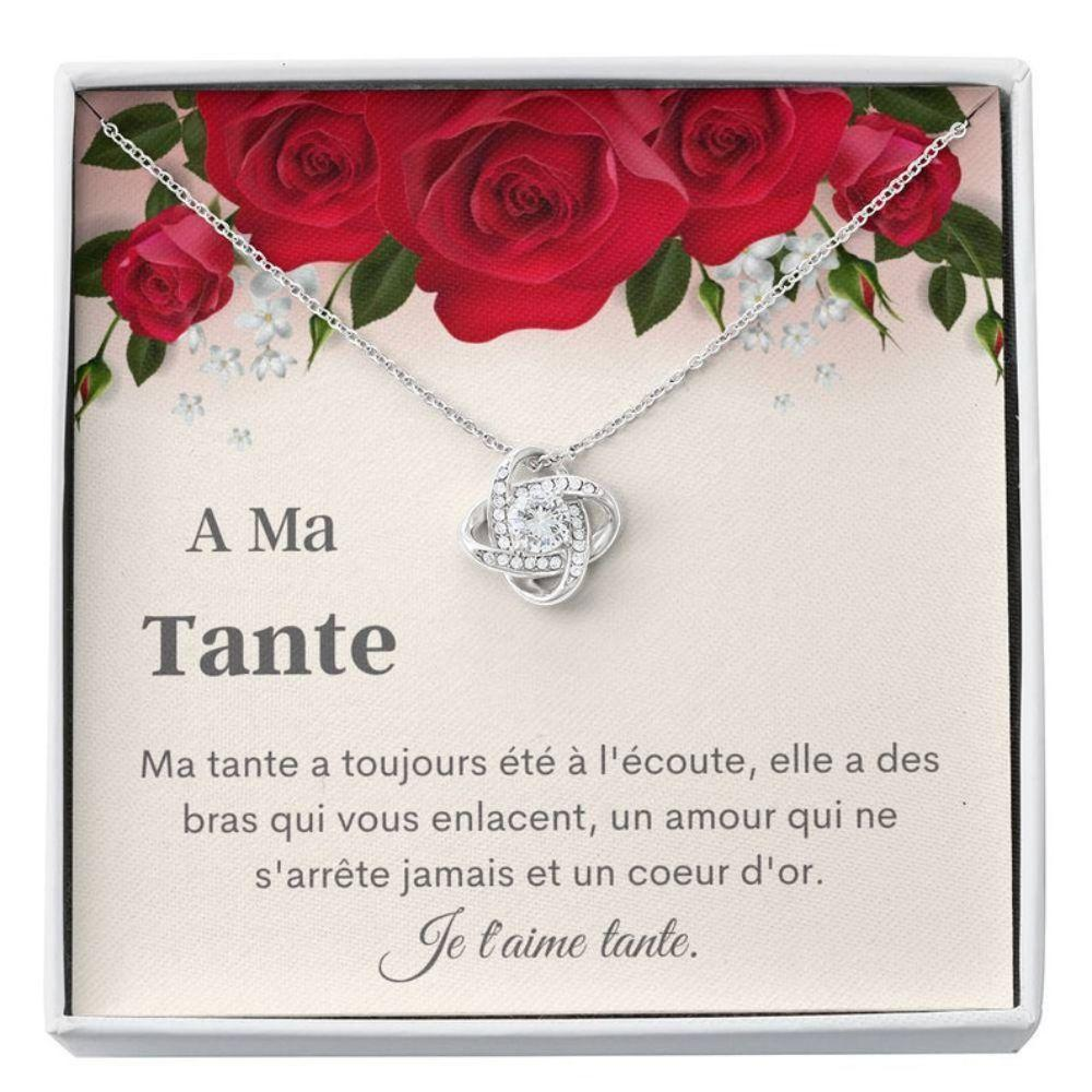 Aunt Necklace, Tante French Gift - Cadeau Ma Tante - Tante Keepsake - Best French Auntie - Bijoux Tante - French Aunt Gift