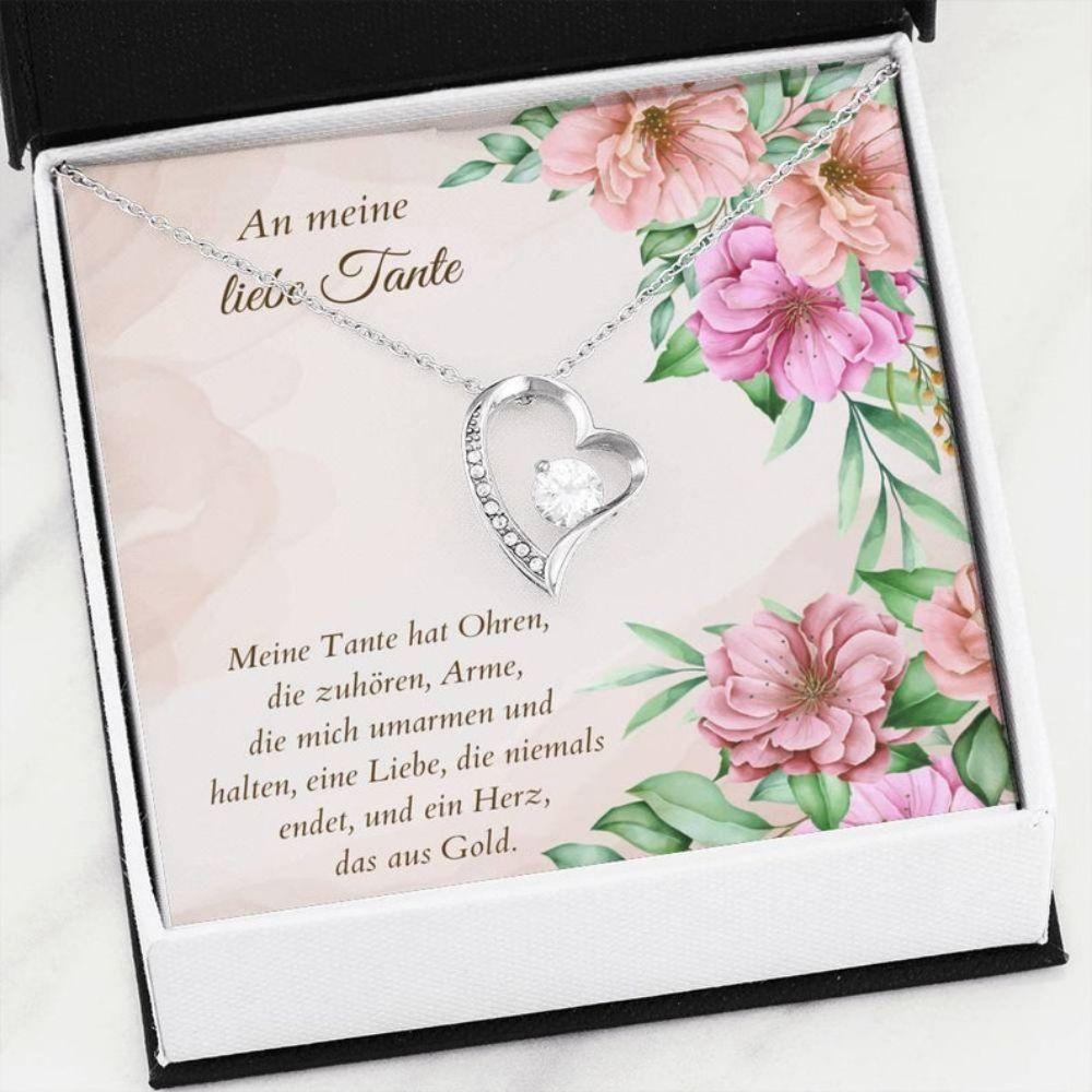 Aunt Necklace, Tante Schmuck - Tante Gift Ideas - Quotes For German Aunt - German Auntie Necklace - Beste Tante