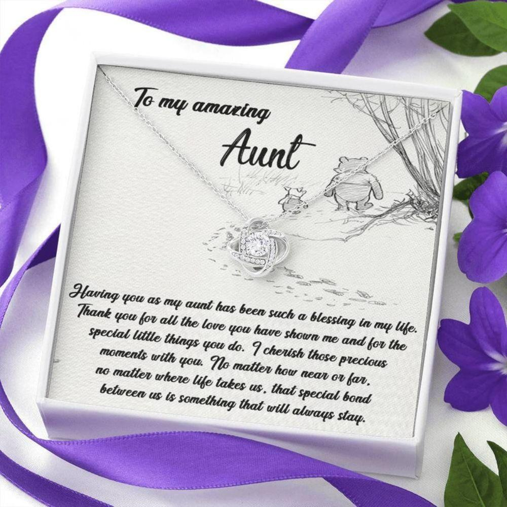 Aunt Necklace, To My Amazing Aunt, Love Knot Necklace Gift For Aunt, Mother Days For Aunt Gift, Aunt Appreciation