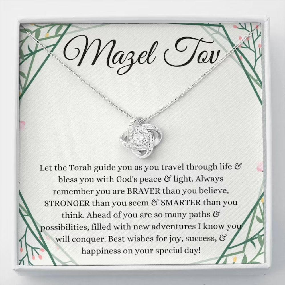 Bat Mitzvah Gift Necklace, Mazel Tov Gift For Bat Mitzvah Jewelry, Jewish