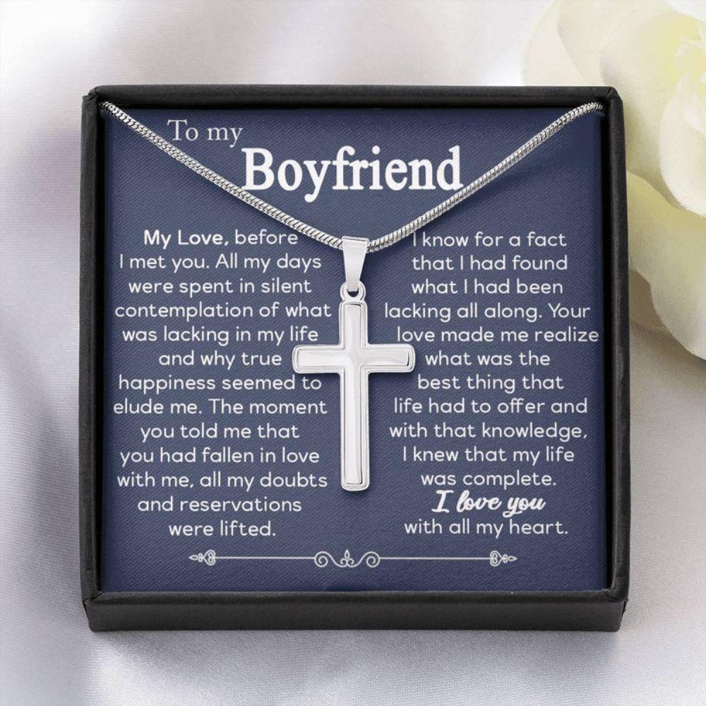 Boyfriend Necklace, Valentine Boyfriend Gift, Girlfriend To Boyfriend Gift, New Boyfriend Valentines, Anniversary Necklace Gift For Boyfriend