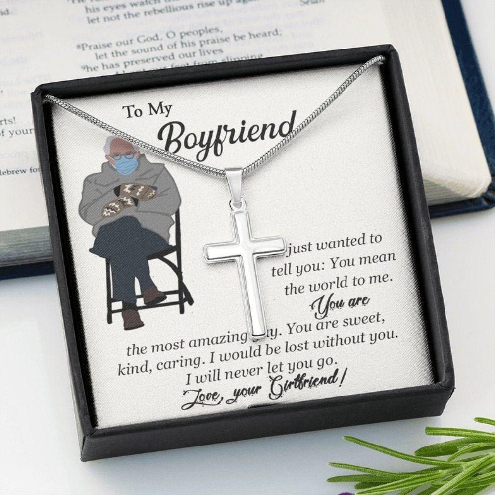 Boyfriend Necklace, Valentine Day Gift For Boyfriend, Gift For Boyfriend, Bernie Sanders Mittens, Sentimental Gift For Boyfriend