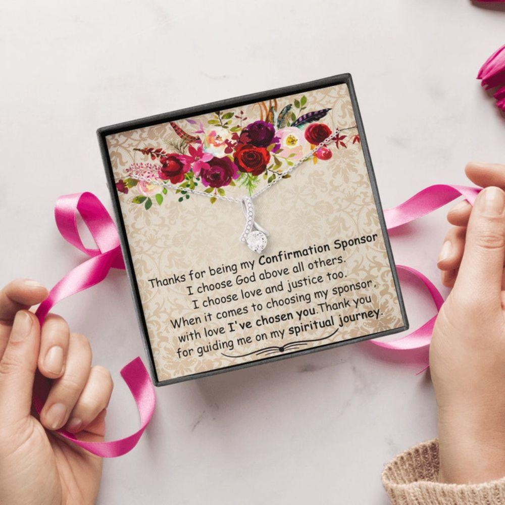 Confirmation Sponsor Necklace Gift, Thank You Gift To Sponsor, Holy Confirmation, Confirmation Sponsor For Women