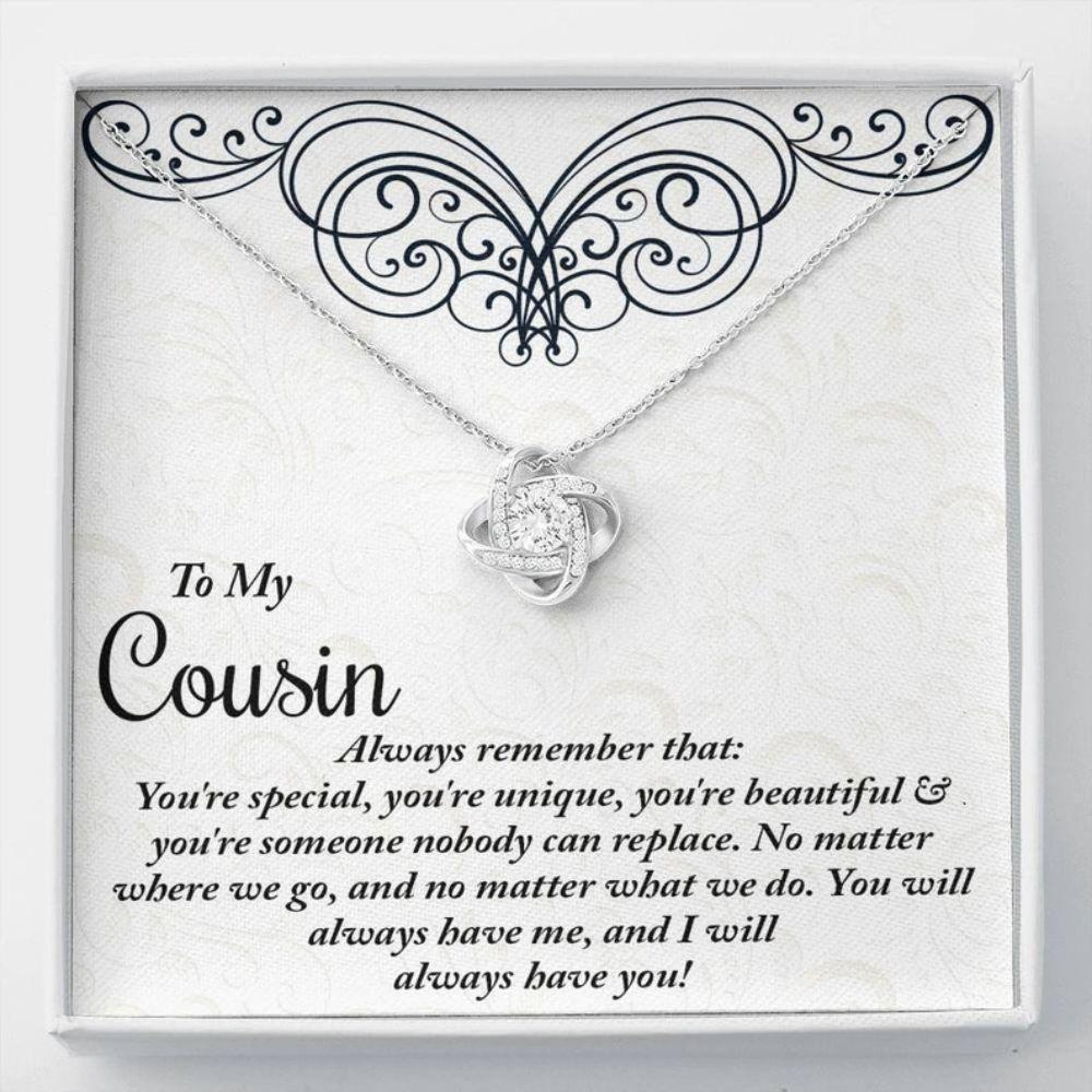 Cousin Necklace, Cousin Birthday Necklace Gift, Gift For Girl Cousin, Necklace For Cousin On Wedding Day, Cousin Christmas Necklace