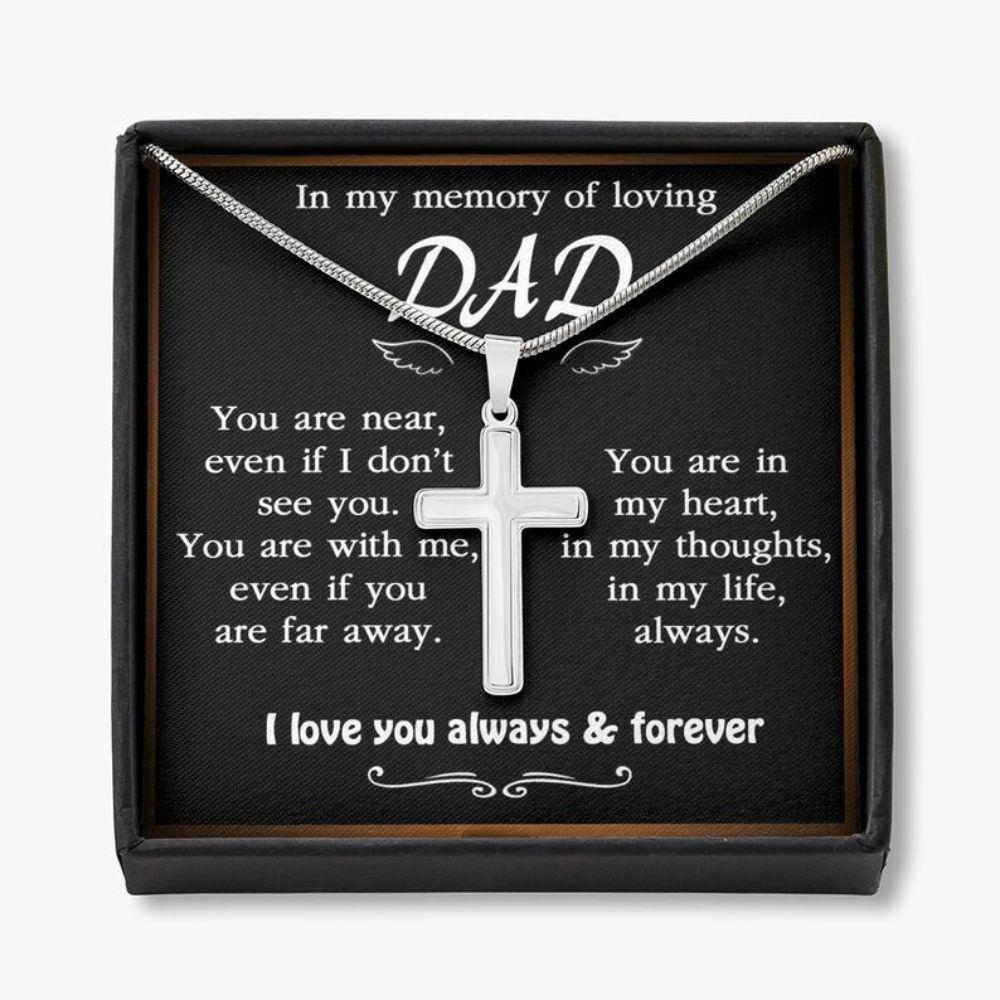 Dad Memorial Necklace, Loss Of Father Gift Necklace, Loss Of Dad Remembrance Gift, Condolences, Mourning, Grieving, Passing