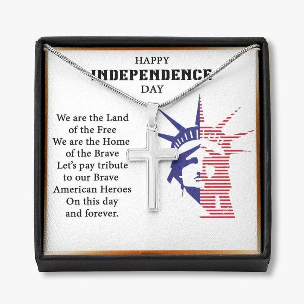 Dad Necklace, 4th Of July Necklace Gifts For Military Father, Husband, Patriotic Necklace, Happy Independence Day Gift For Dad