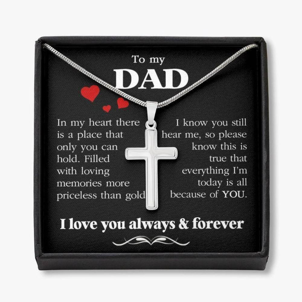 Dad Necklace, Dad Thank You Gift, Birthday Gift For Dad, Father's Day Gift For Dad, Daughter To Dad Necklace Gift