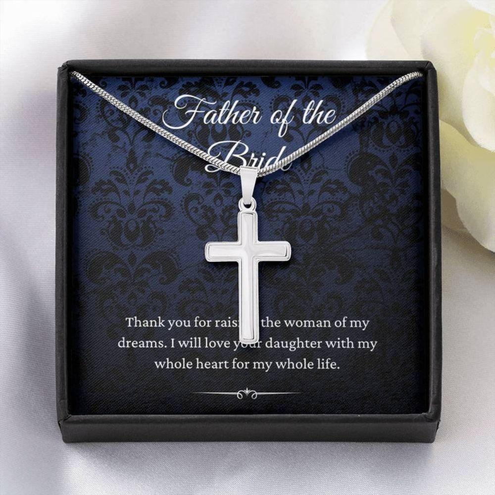 Dad Necklace, Father Of The Bride Wedding Gift From Groom, To Father Of The Bride Necklace From Son In Law
