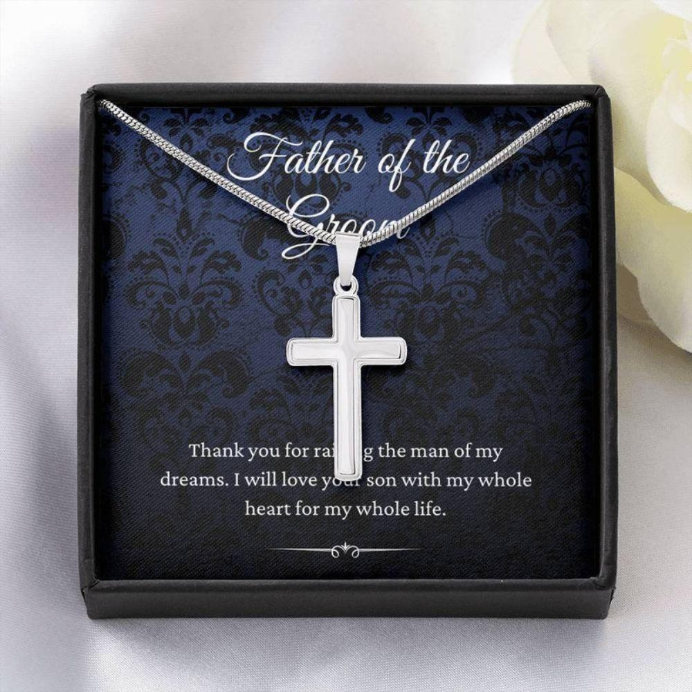 Dad Necklace, Father Of The Groom Wedding Gift From Bride, To Father Of The Groom Necklace From Daughter In Law