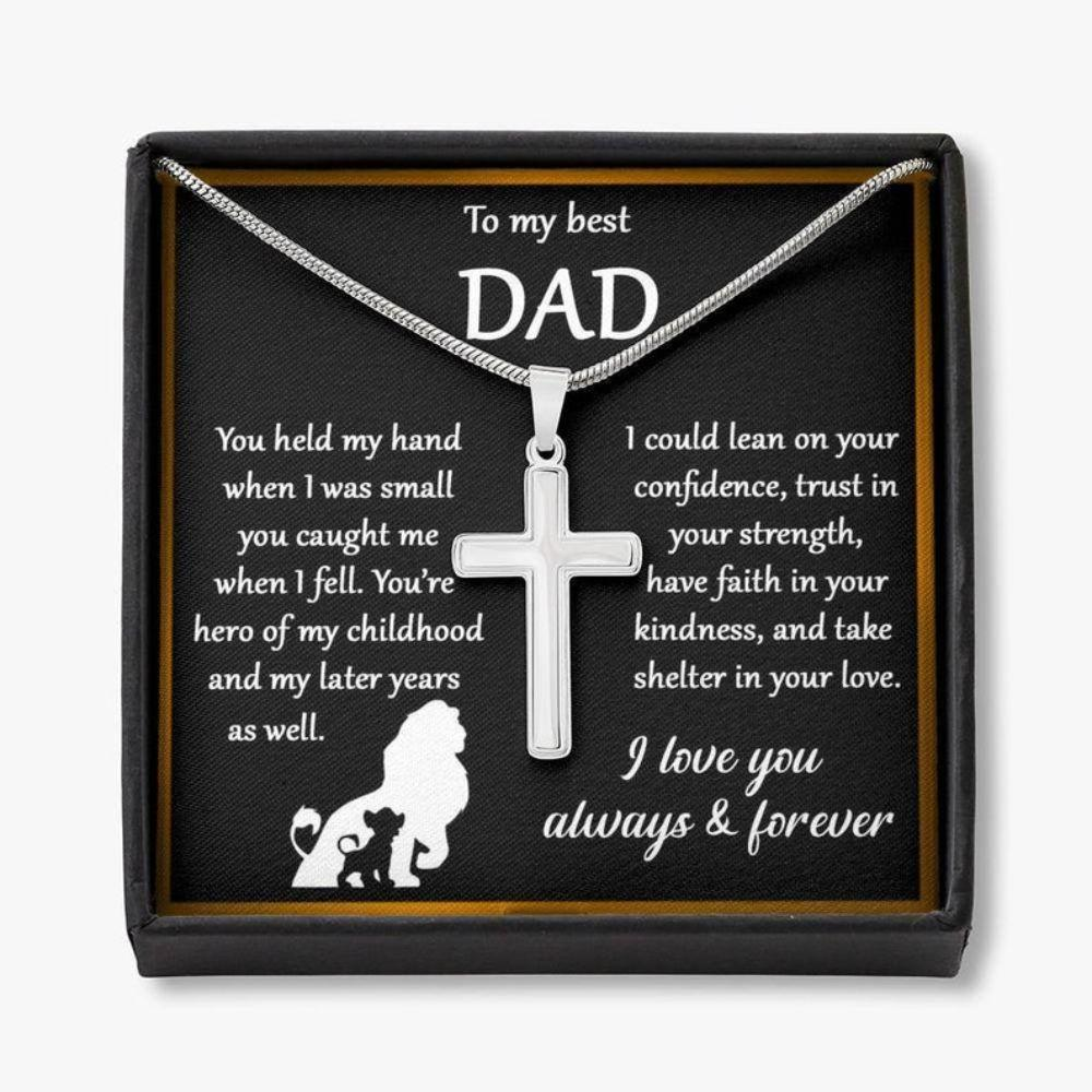 Dad Necklace, Father's Day Gift For Dad From Daughter, Dad You Are My World Necklace