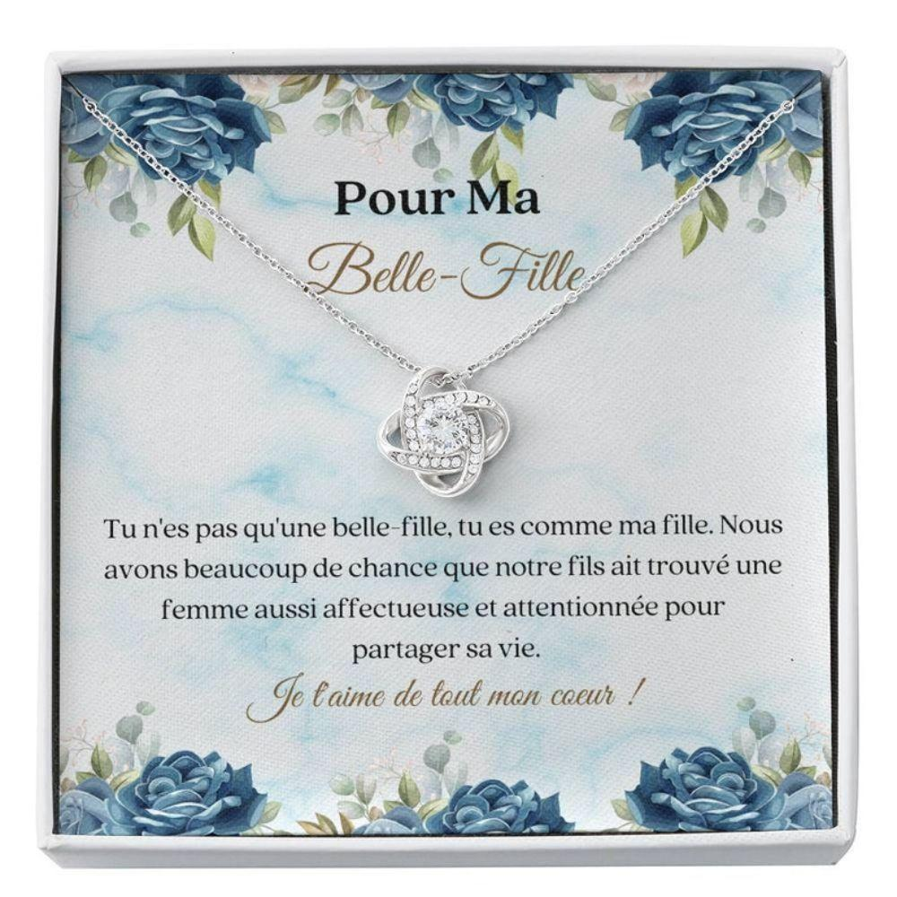 Daughter-in-law Necklace, Belle-Fille French Necklace Gift - Sweet Daughter In Law Wedding - Carte Collier - Cadeau Belle Fille