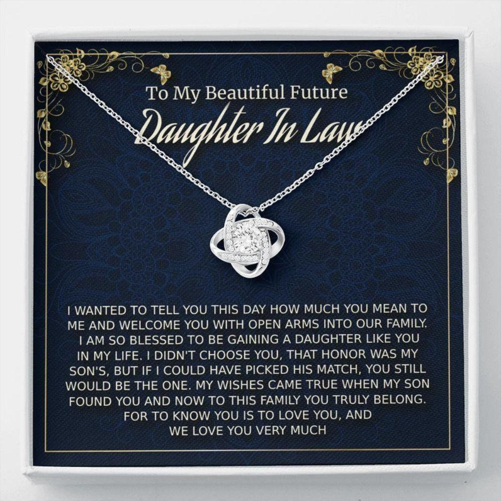 Daughter-in-law Necklace, Future Daughter-In-Law Gift On Wedding Day, Bride Gift From Mother In Law, Bonus Daughter
