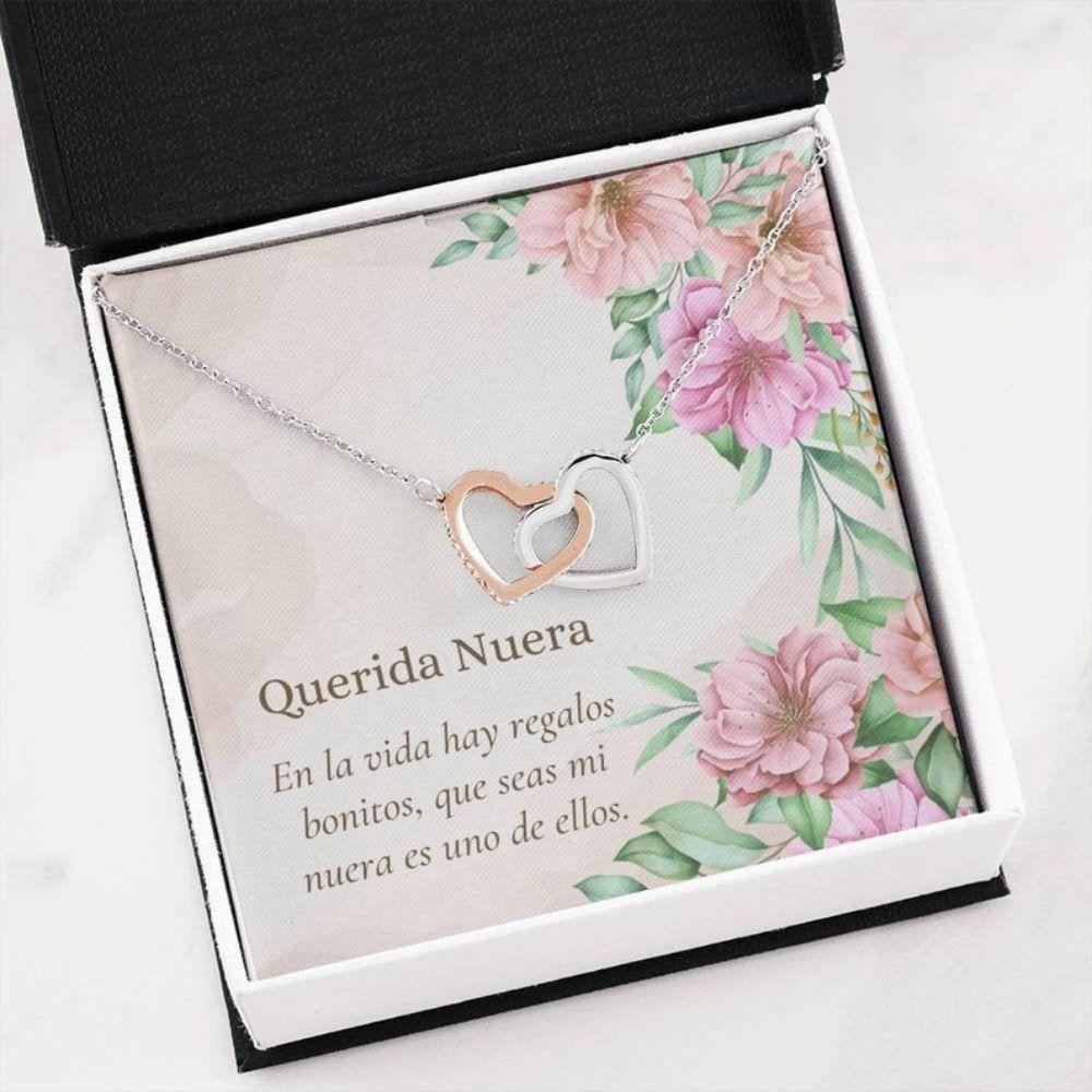 Daughter In Law Necklace, Latina Daughter In Law Gift Necklace - Collar Para Nuera - Heartfelt Spanish Gift Nuera