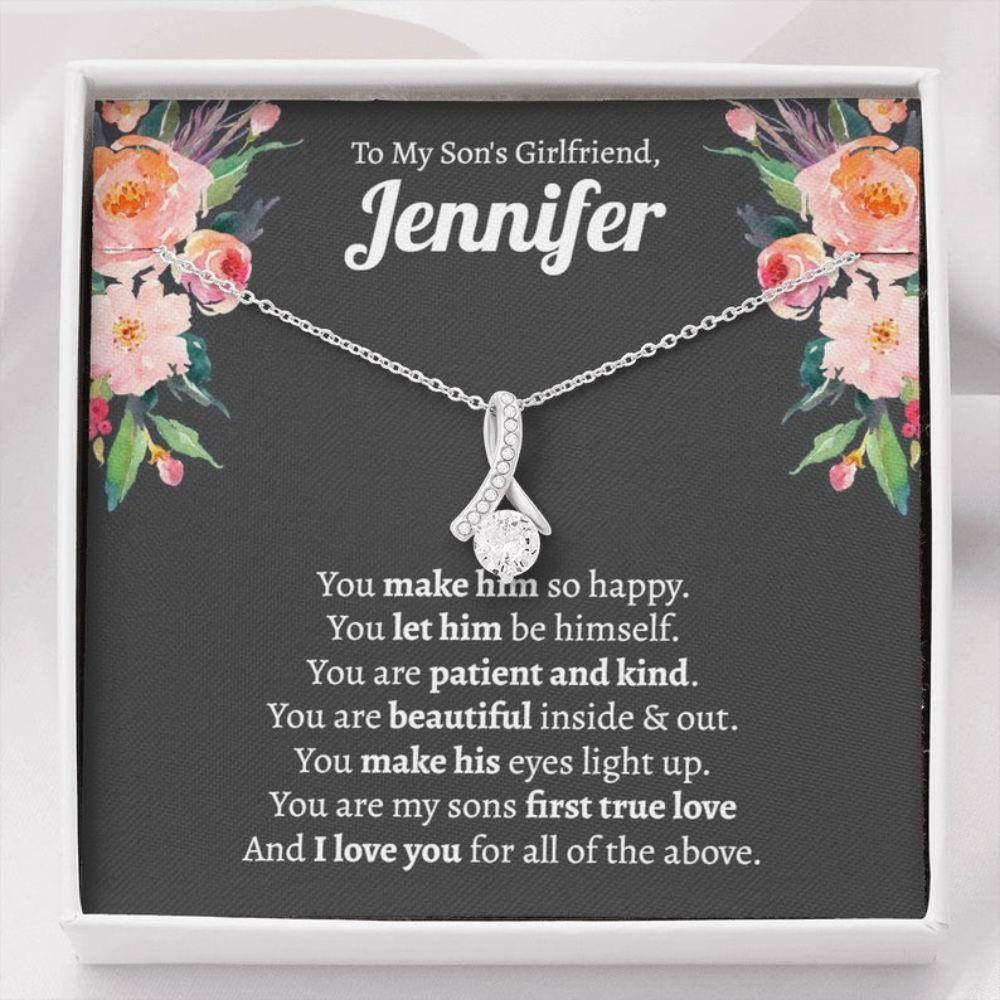 Daughter-in-law Necklace, Sons Girlfriend Gift, Christmas Gift For Sons Girlfriend, Gift For Son's Girlfriend, Son's Girlfriends Necklace