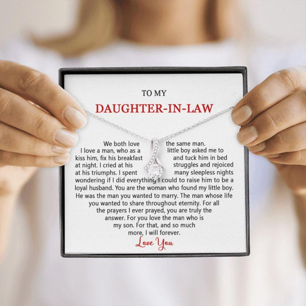 Daughter-in-law Necklace, To My Daughter-in-law, Gift For Daughter-in-law, To My Future Daughter-in-law Wedding Day Necklace Gift