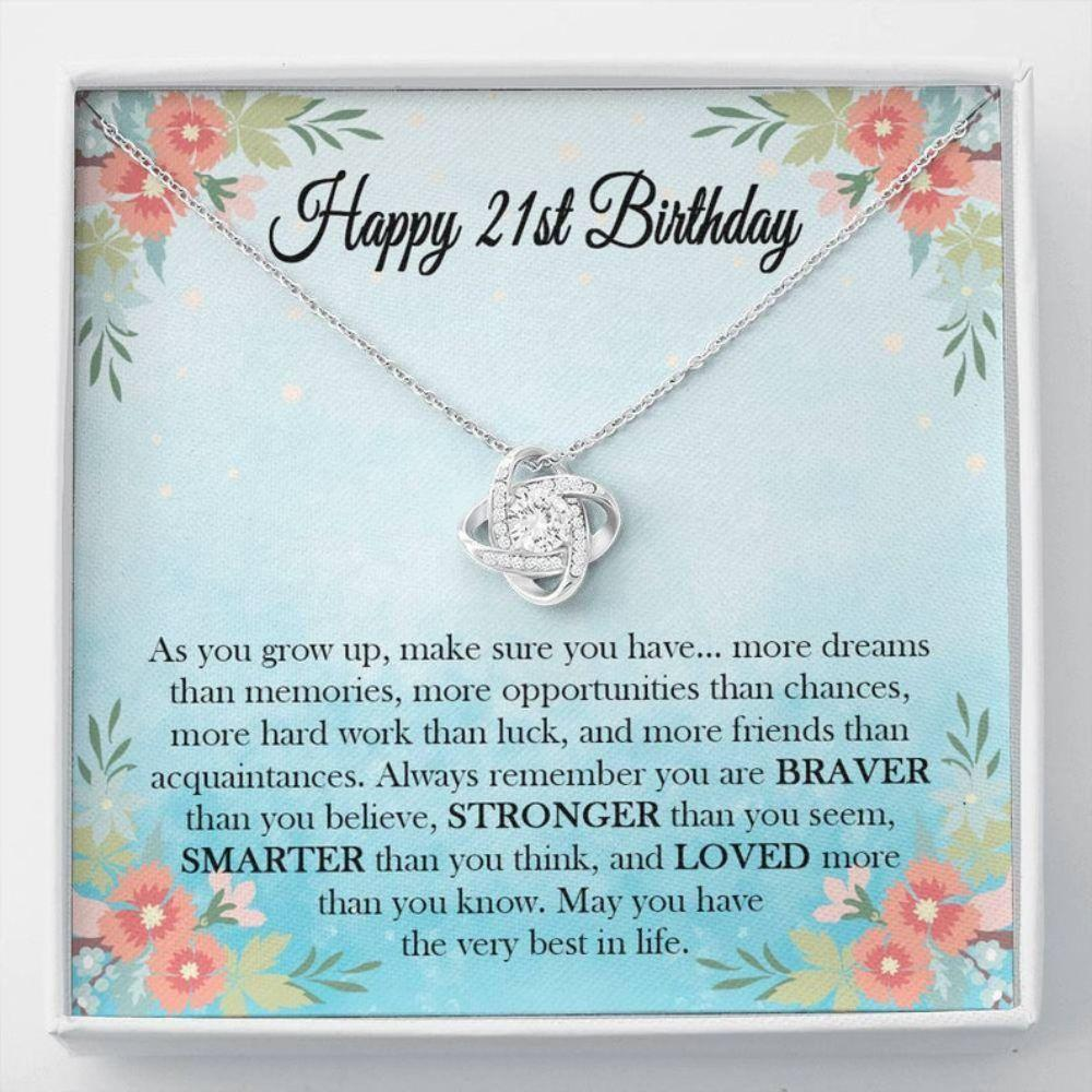 Daughter Necklace, 21st Birthday Necklace Gift For Her, Happy 21st Birthday, Jewelry Gift For Her, Birthday Necklace Gift For Daughter