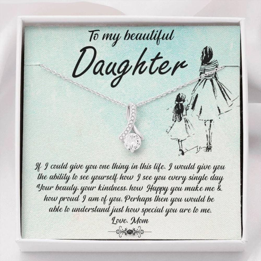 Daughter Necklace, Daughter Gift From Mom, Mother Daughter Gift Necklace, Gifts For Daughter Birthday, Valentine Gifts