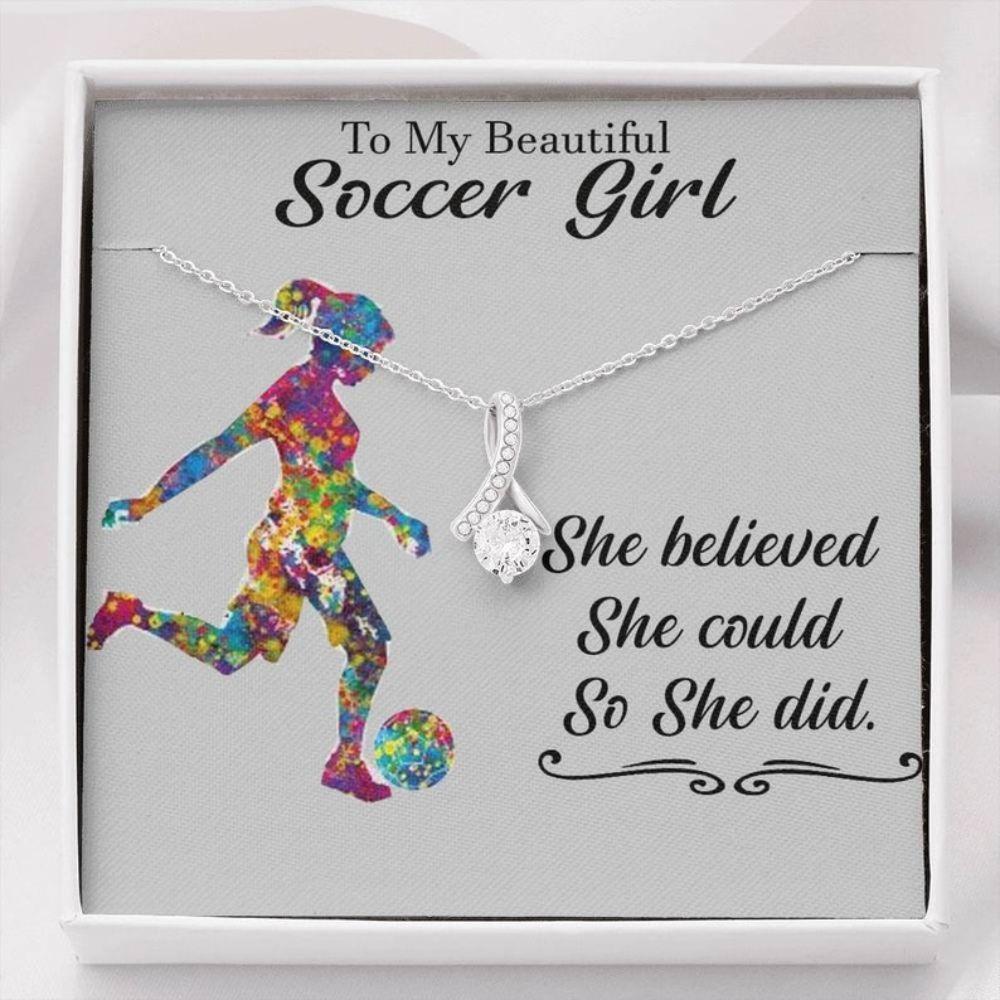 Daughter Necklace, Soccer Gifts For Girls, Soccer Necklace For Girl, Girls Soccer, Soccer Girl Necklace, Girls Soccer Gift