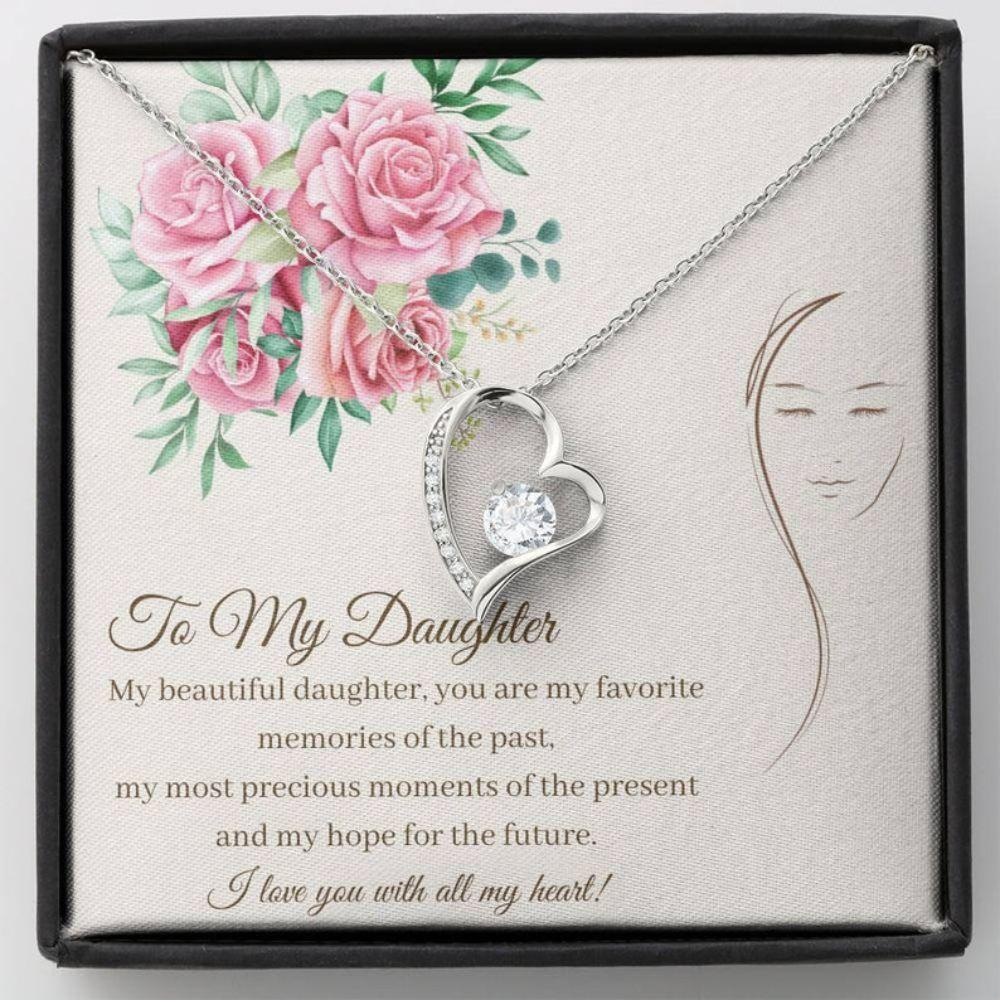 DAUGHTER NECKLACE - Sweet Daughter Gift - Love For Daughter - Daughter 21st - Cute Heart Gift