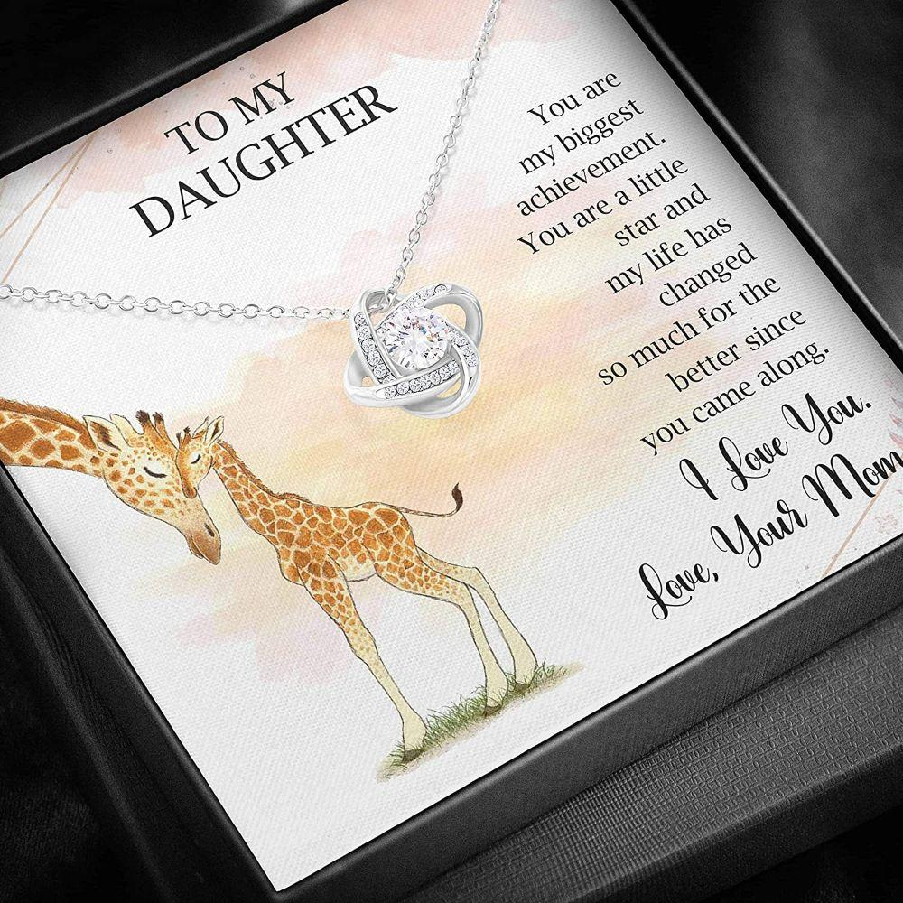 Daughter Necklace – To My Daughter – Love Knots