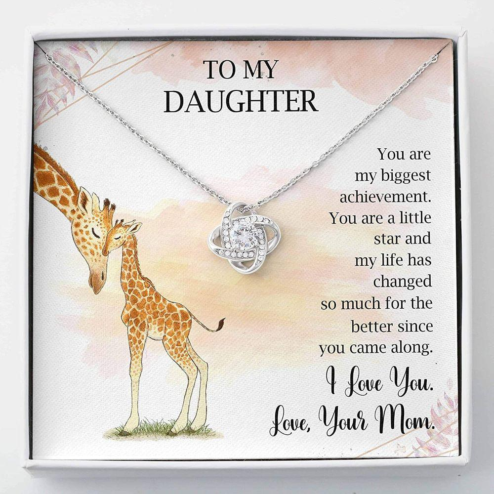 Daughter Necklace - To My Daughter - Love Knots