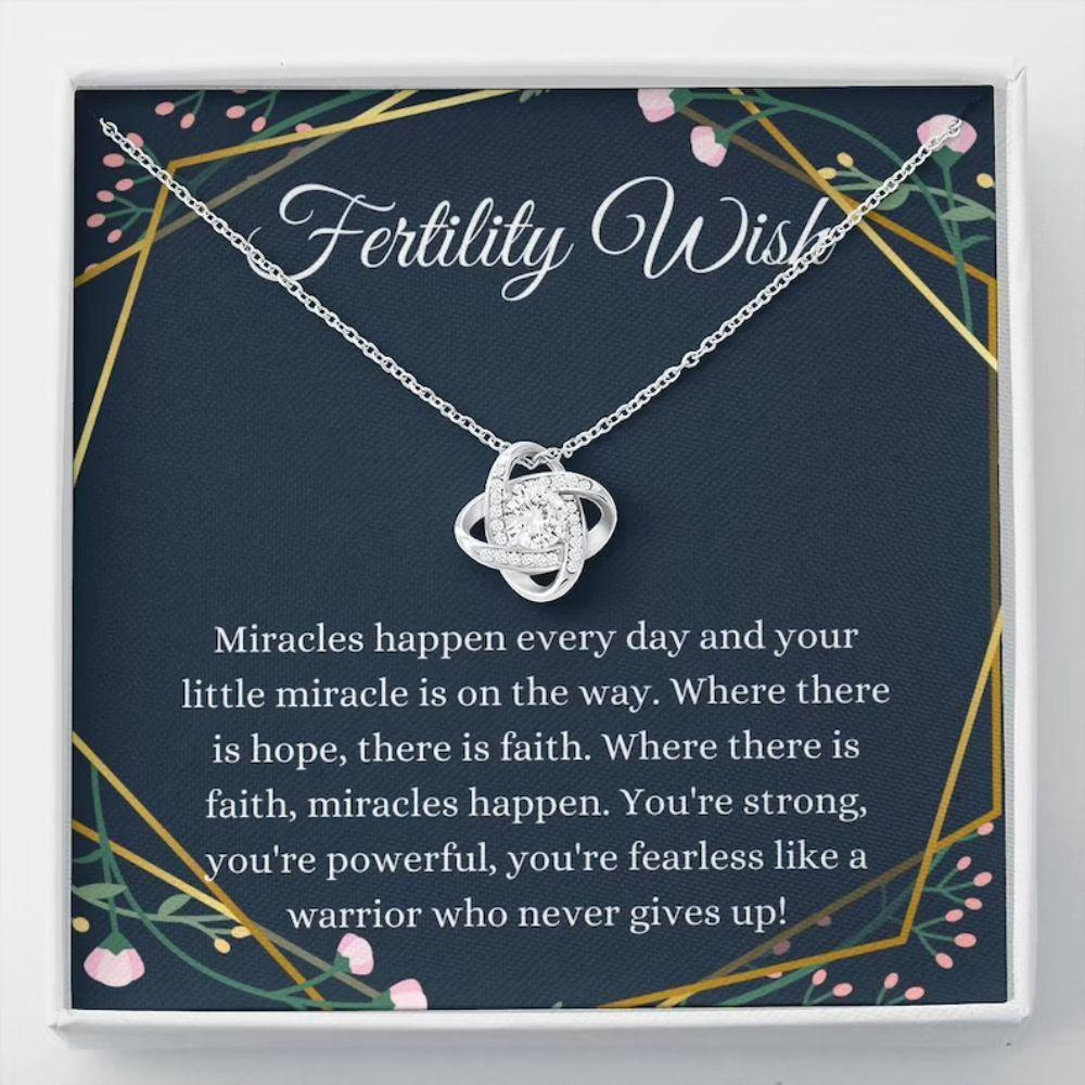 Fertility Wish Necklace Gift, Infertility Gifts, IVF Gift, Miscarriage Gift, Support Gift