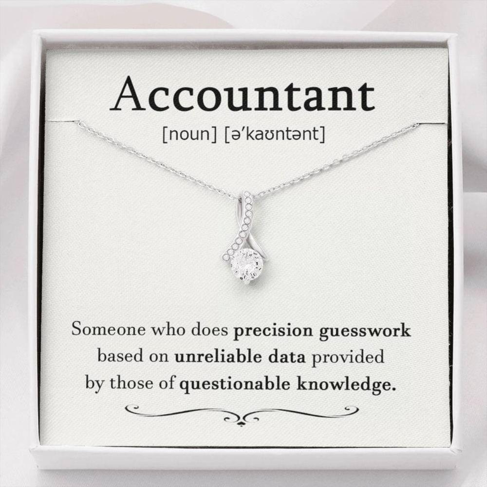 Friend Necklace, CPA Necklace, CPA Gift, Accounting Gift For Her, Accountant Definition, Gift For Accountant, Appreciation Gift