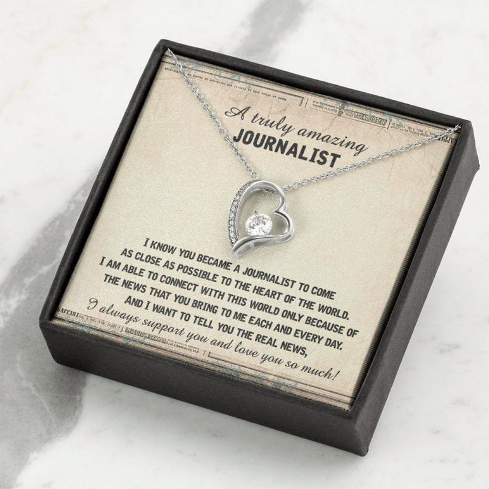 Friend Necklace,  Journalist Birthday Necklace Gifts, Chrismas Gift For Journalist, Journalist Retirement Gift For Women