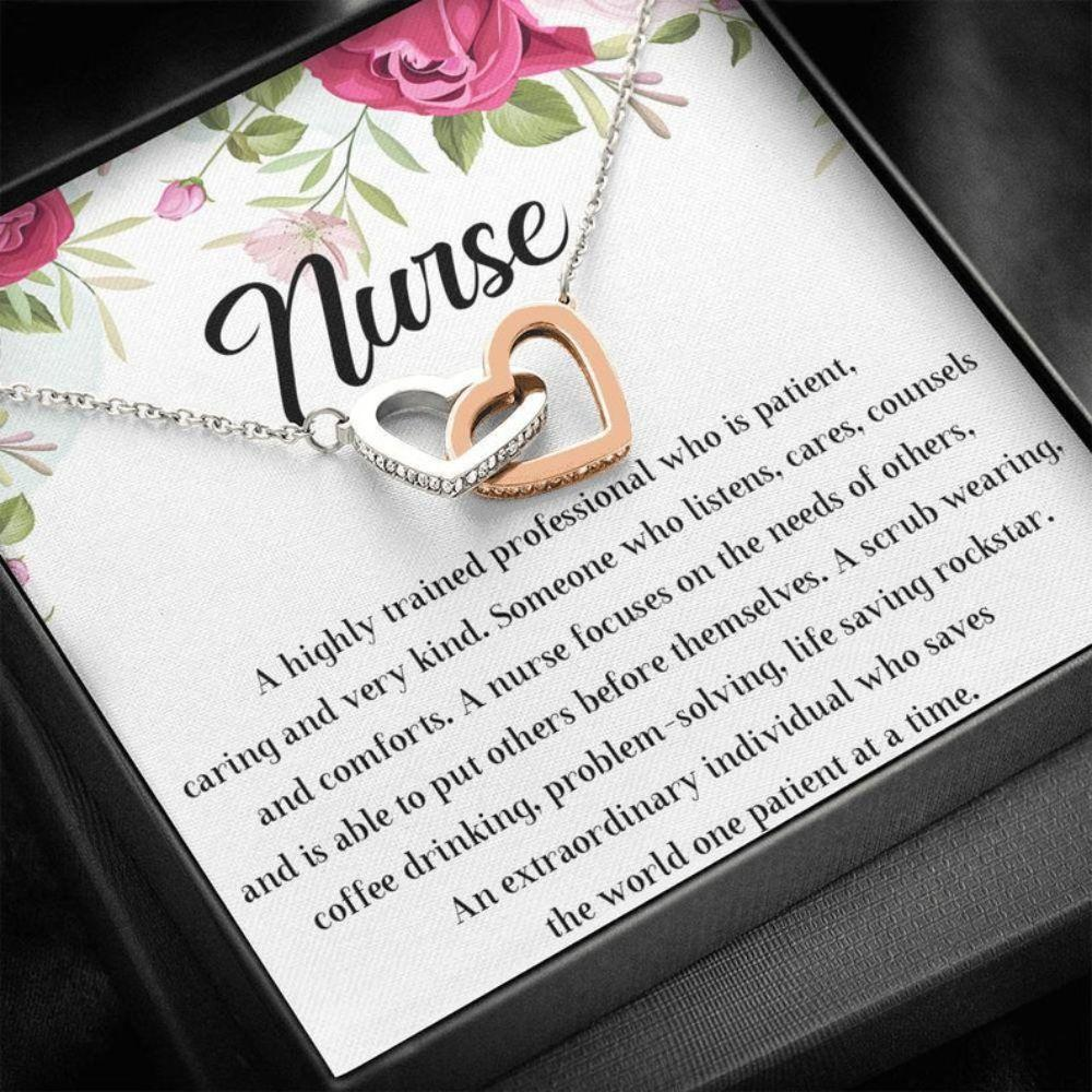 Friend Necklace, Nurse Definition Necklace, Nurse Gift, Nurse Graduation Gift, Future Nurse Gift, Nursing School Gifts, Appreciation Gift