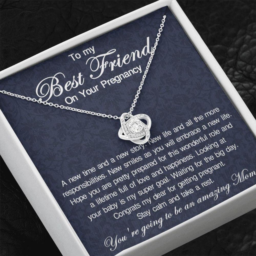 Friend Necklace, Pregnancy Gift For Friend, Best Friend Pregnancy Gift, Gift For First Time Mom, Expecting Mom Friend Gift