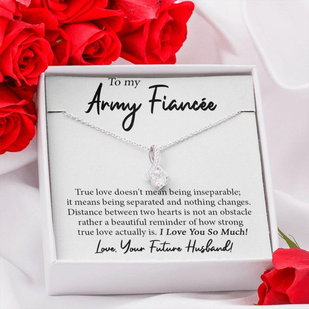 Future Wife Necklace, Future Army Wife, Army Fiancee Necklace, Engagement Gift For Army Girlfriend, Bride To Be, Necklace For Army Wife