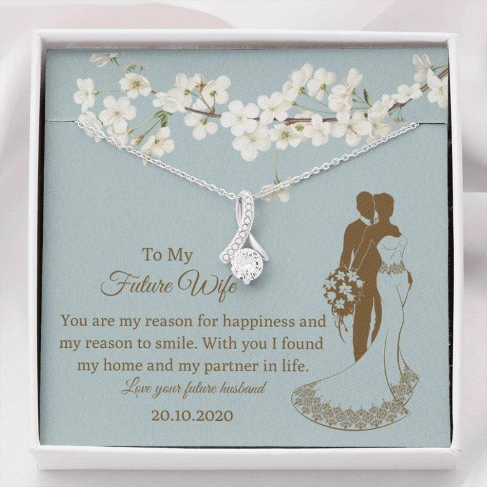 Future Wife Necklace, Pesonalized Future Wife Gift - Bride Wedding Gift From Groom - Bride Necklace Husband - Gift Love Of Life