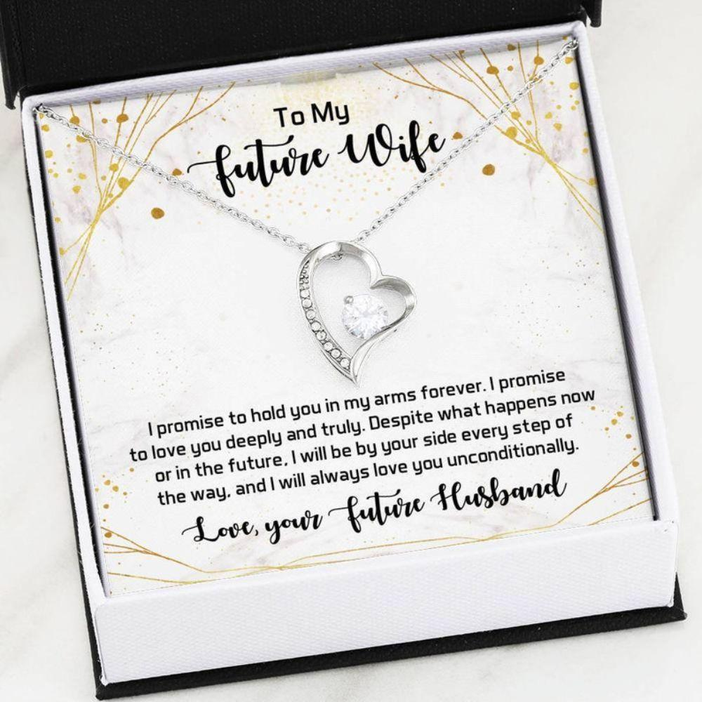 Future Wife Necklace - Sentimental Love Card - To My Future Wife - Fianc�e Love Gift - Future Wife Christmas Gift - Celebrate Love