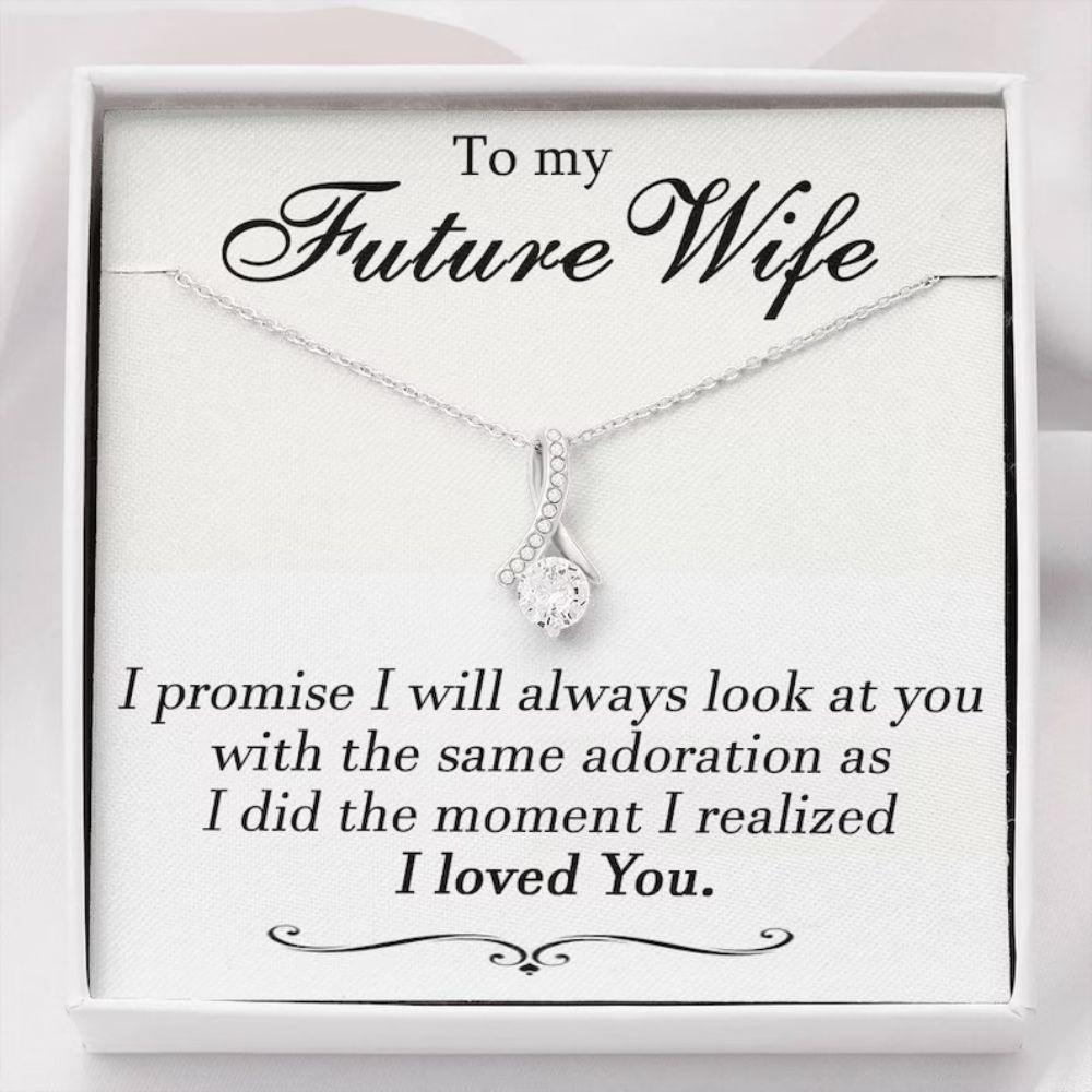 Future Wife Necklace, To My Future Wife Necklace, Engagement Gift For Future Wife, Sentimental Gift For Bride Groom, Fiance Gift