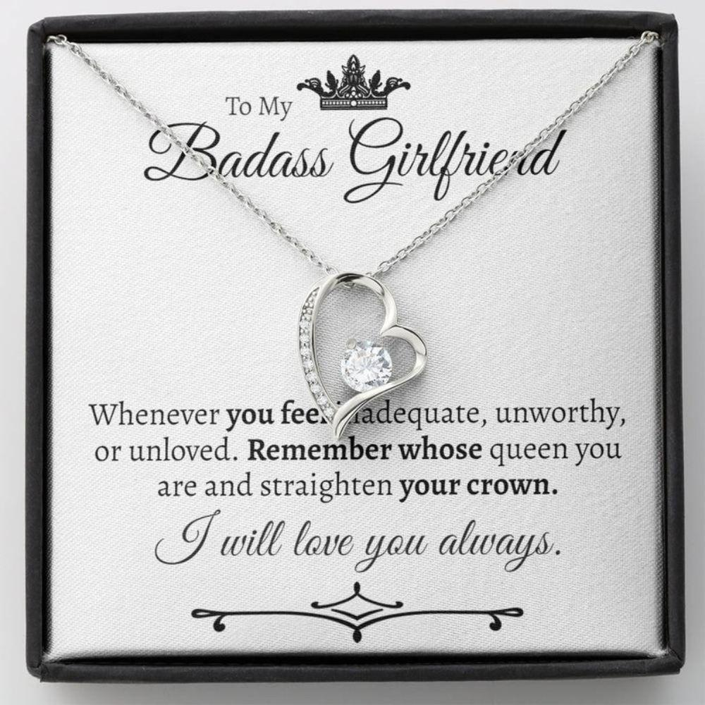Girlfriend Necklace, Funny Gift For Girlfriend, Necklace For Girlfriend, Girlfriend Birthday Gift, Romantic Gift For Girlfriend